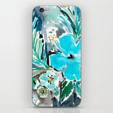 BLUE HAWAII HIBISCUS iPhone & iPod Skin
