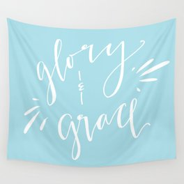 Glory and Grace // Blue Wall Tapestry