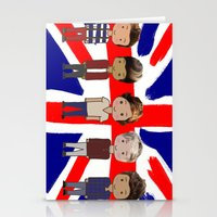 one direction Stationery Cards featuring One Direction by Paige Norman