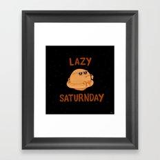 Lazy Saturnday Framed Art Print