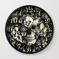 gothic Wall Clocks featuring Victorian Gothic by Kristy Patterson Design