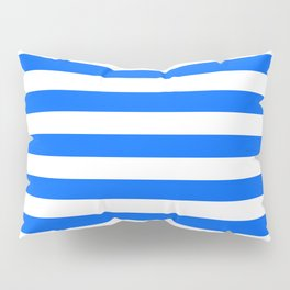 China Blue and White Medium Stripes Pillow Sham