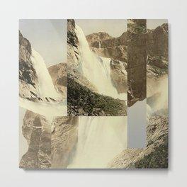 Digital Waterfall Collage Metal Print
