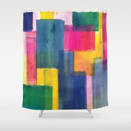 Color Block Series: Rooftops Shower Curtain