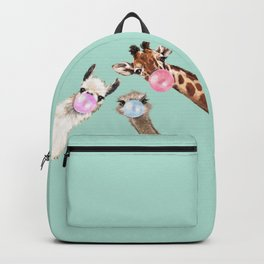 Bubble Gum Gang in Green Backpack
