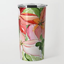 Pink Poinsettias Travel Mug