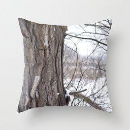 Strong Timbers Throw Pillow