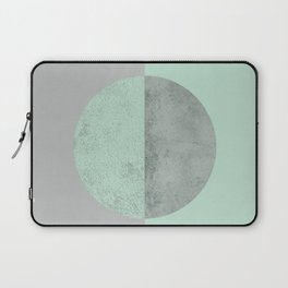 MINT TEAL GRAY CONCRETE CIRCLE Laptop Sleeve