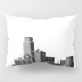 Dallas Texas Skyline in Black and White Pillow Sham