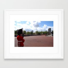 A Guard Watches the Crowd 2 Framed Art Print