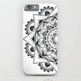 Black Tattoo Mandala  iPhone Case