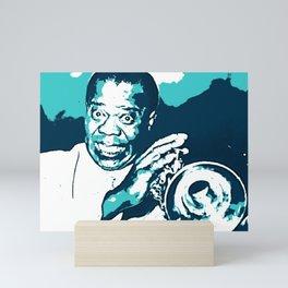 S6 - Louis - Louie - Daniel Armstrong Satchmo - Satch - Pops - Pop Sketch-Art oo89 Mini Art Print
