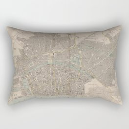 Vintage Map of Antwerp Belgium (1869) Rectangular Pillow