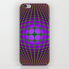 Homage to Vasarely Number 3 iPhone Skin