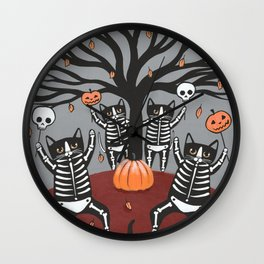Cats Celebration of Halloween Wall Clock