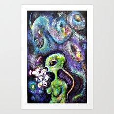 The Female from Mars Art Print