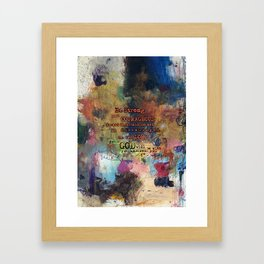 Christian Inspired Abstract Scripture Bible Verse Art Paintings by Michel Keck Framed Art Print