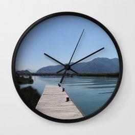 River At Dalaman Turkey Wall Clock