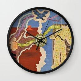 Tribal Learning Wall Clock