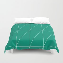 Emerald Triangles by Friztin Duvet Cover