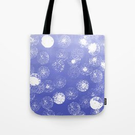 Abstract hand painted violet white watercolor paint polka dots Tote Bag