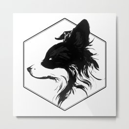 Canine Republic : Border Collie Metal Print
