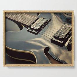 Black Guitar. Serving Tray