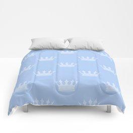 Louis Blue Crowns- Prince of Cambridge Comforters