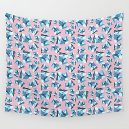 Blue Gemstone Wall Tapestry