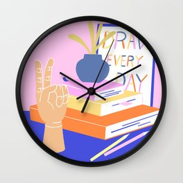 Desk books Wall Clock