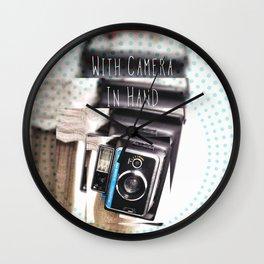 Vintage Keystone Camera Love Wall Clock