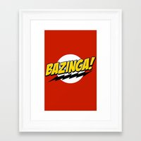bazinga Framed Art Prints featuring Bazinga! by WaXaVeJu