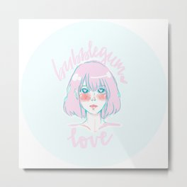 Bubblegum Love Metal Print