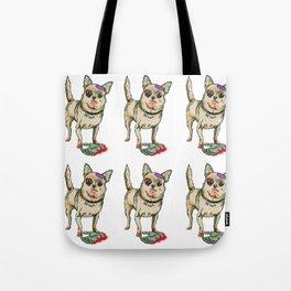 Zombie Chihuahua Tote Bag