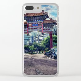 Newcastle upon Tyne city art #newcastle #england Clear iPhone Case