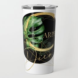 Carpe Diem – Inspiring quote in gold Travel Mug