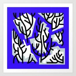 Winter Trees in Water Art Print