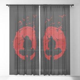 Ninja Silhouette Sheer Curtain
