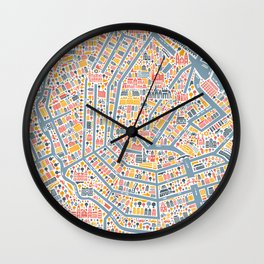 Amsterdam City Map Poster Wall Clock