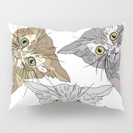 Triple Kitties - Three's Company Pillow Sham