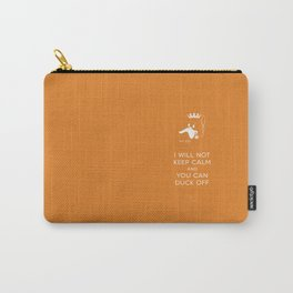bad duck .. i will not keep calm & you can duck off .. signature orange Carry-All Pouch