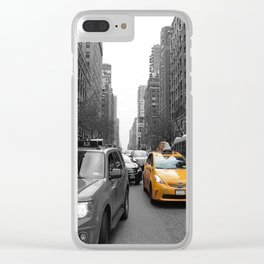 NY´s cab Clear iPhone Case