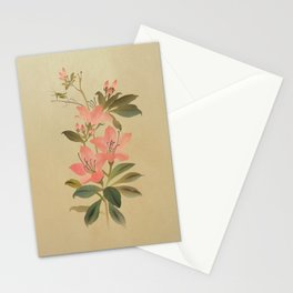 Peruvian Lily and Grasshopper Stationery Cards