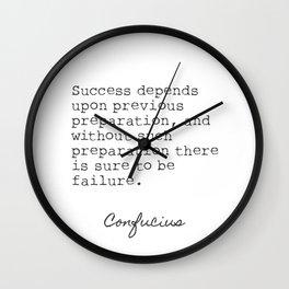 Confucius Success quote Wall Clock
