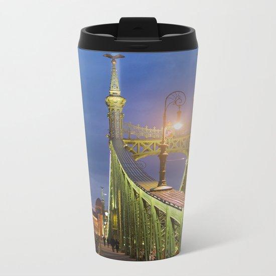 Budapest Bridge Metal Travel Mug