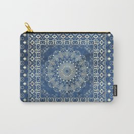 Old Bookshop Magic Mandala in Blue Carry-All Pouch