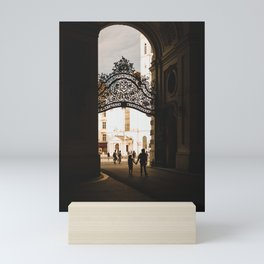 Iron gate passage in Vienna, Austria Mini Art Print