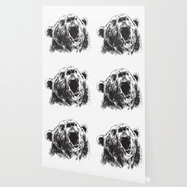 Sketch head bear Wallpaper