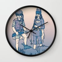 gotham Wall Clocks featuring Moonrise Gotham by Ramon Villalobos