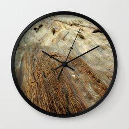 Madera abstracta Wall Clock